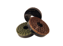ENX & ENR - 150mm Copper & Resin  Natural Stone Nautilus Edge Polishers