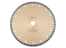 GTP - Continuous Rim Turbo Granite Cutting Diamond Blade