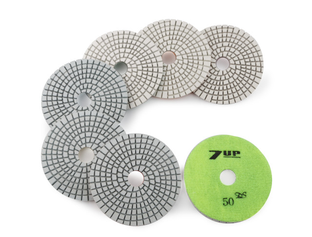 EG7P - 100mm 7-Up Wet Engineered Stone Polishing Pads
