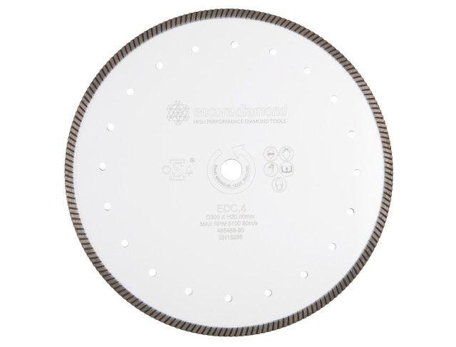 EDC.4 - Premium Fast Concrete Cutting Continuous Rim Turbo Diamond Blade