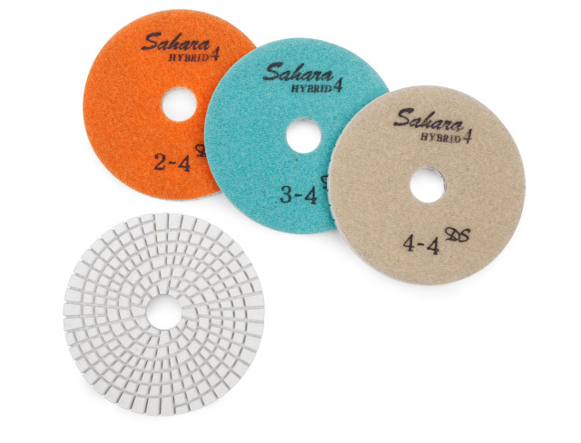 PMP4 - 100mm 4-Step Hybrid Polishing Pads