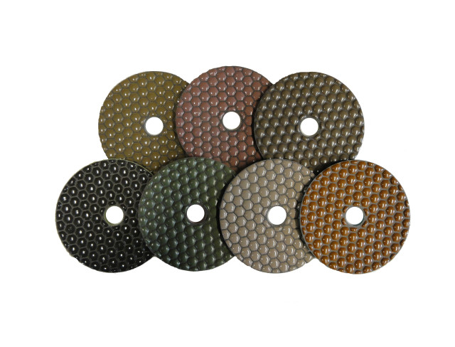 Hex Dry Polishing Pads - 100mm PDH Full Set - #50~#3000